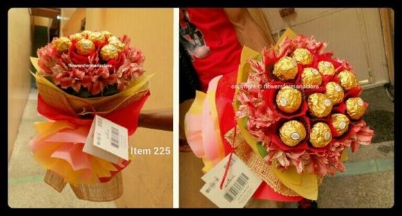ferrero flower bouquet