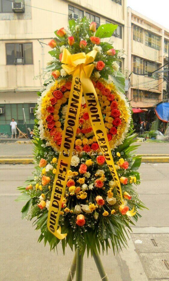 sympathy flowers delivery in malabon
