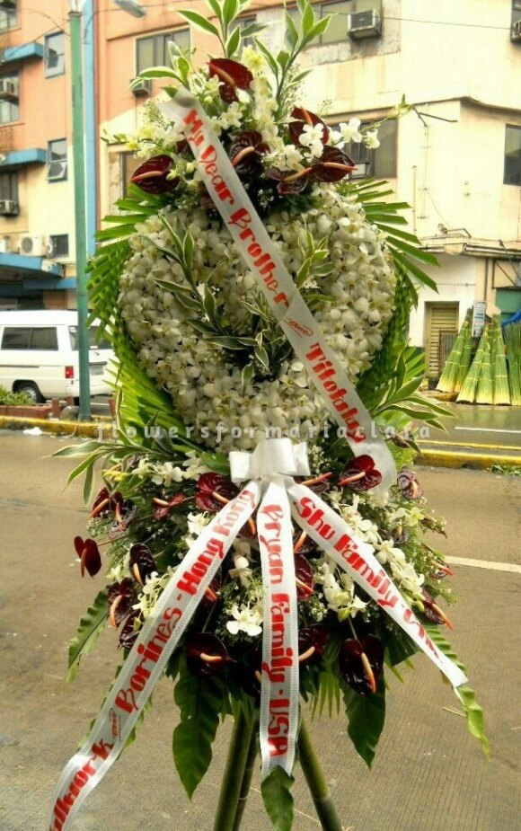 sympathy flowers delivery in manila